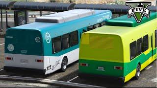 Video GTA V Mods - VIDA REAL: Motorista de ônibus #1 / City Bus Driver download MP3, 3GP, MP4, WEBM, AVI, FLV November 2018