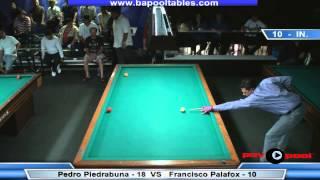 3 Cushion @ The Eight Ball - Piedrabuena vs Palafox