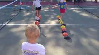 Teaching kids tennis, drills for kids. Детский теннис 4-5 лет