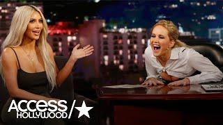 Jennifer Lawrence Grilled Kim Kardashian On 'Jimmy Kimmel Live!' & It Was Basically The Best