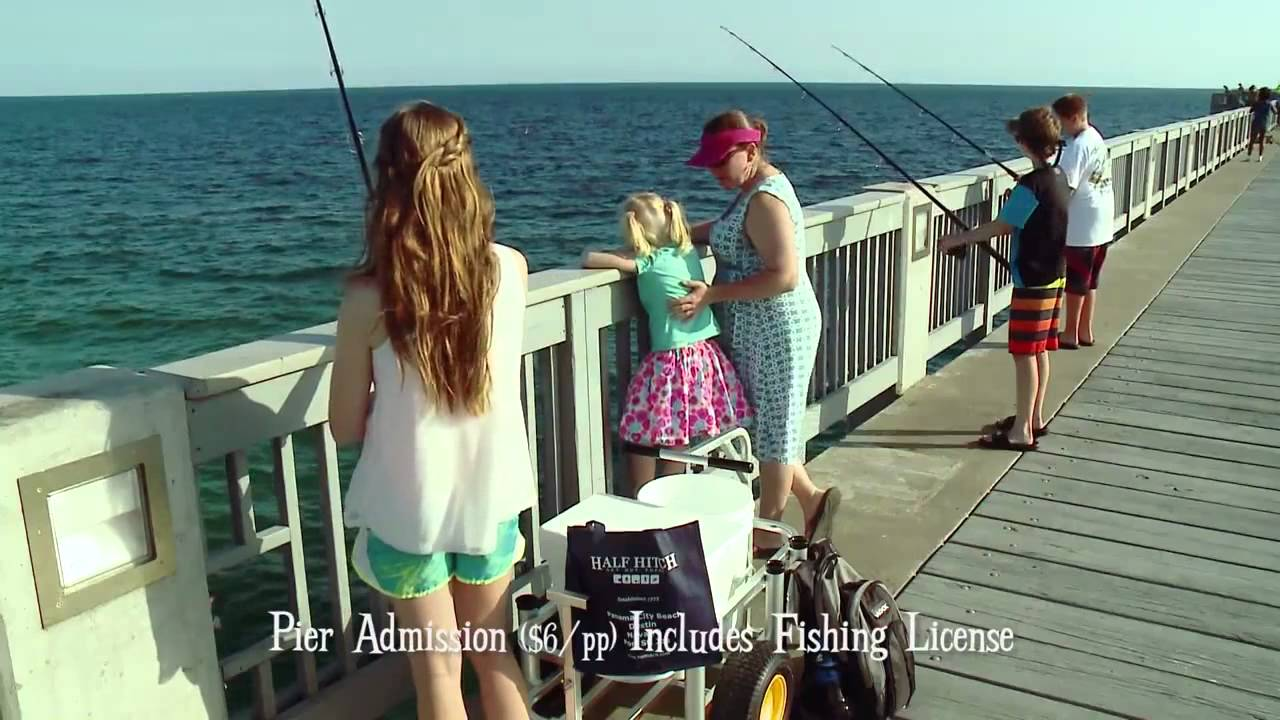Half hitch pier fishing in panama city beach youtube for Panama city beach pier fishing report