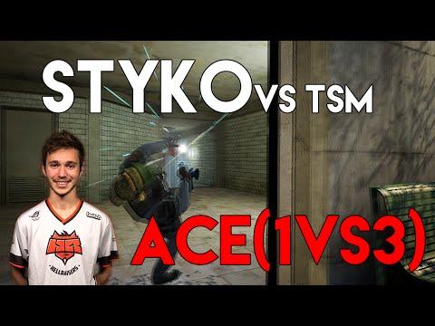 STYKO vs. TSM - ACE (1vs3 clutch) @ SL i-League StarSeries XIV