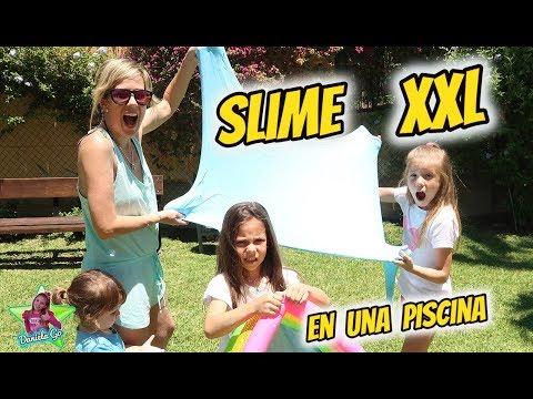 SLIME GIGANTE EN UNA PISCINA!! SLIME CHALLENGE EN LA PISCINA thumbnail