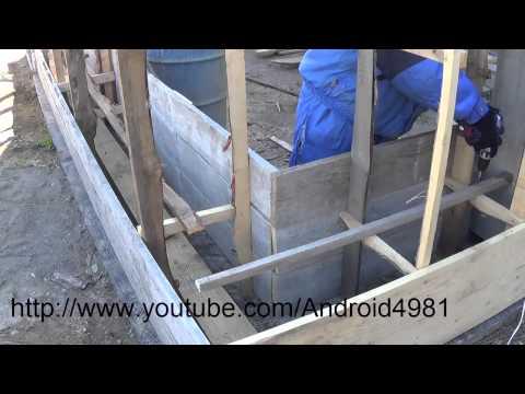 Как построить дом из опилкобетона с нуля поэтапно видео
