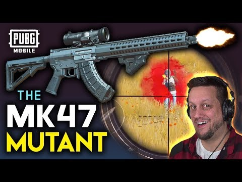 MK47 MUTANT - AR or DMR? First Game with NEW WEAPON! PUBG Mobile
