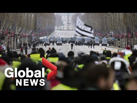 LIVE: Yellow vest protests continue in France for 6th straight weekend