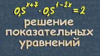 алгебра ПОКАЗАТЕЛЬНЫЕ УРАВНЕНИЯ 10 11 класс