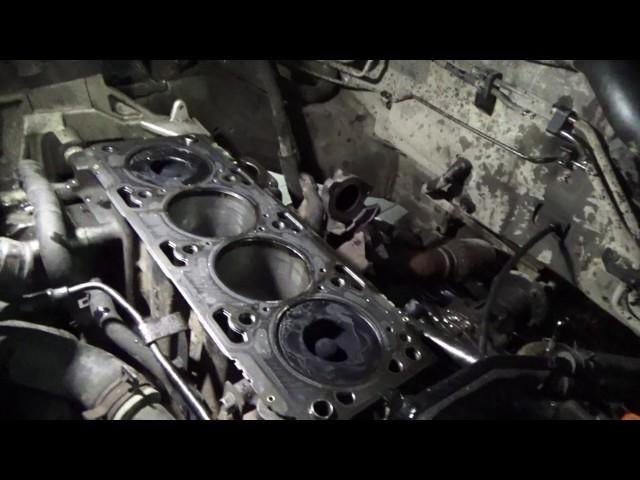 Фото к видео: Задиры и стук в двигателе Hyundai Santa Fe на новой ГБЦ Ч.1