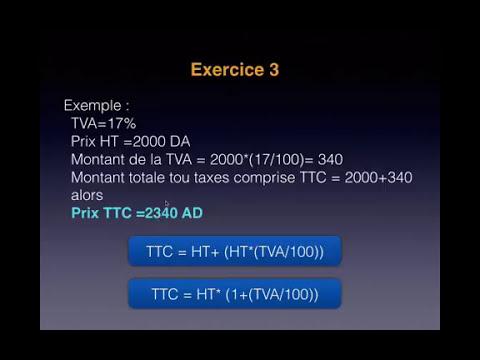 Exercice 03 Calcule Ttc Tva Ht