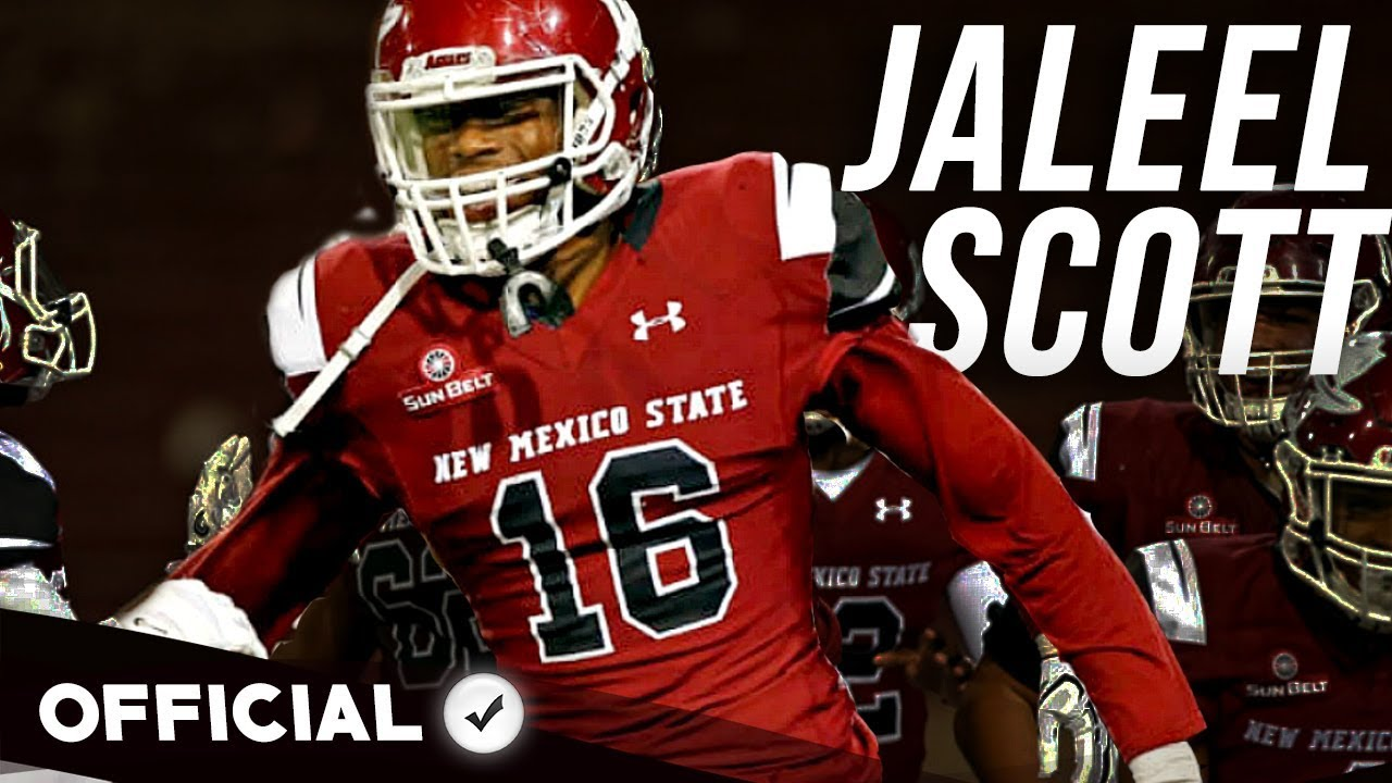 best service 45c7c ca630 Jaleel Scott    2018 Draft Sleeper    Official 2017-18 New Mexico State  Highlights
