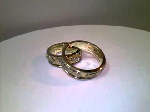 обручальные кольца жёлтые