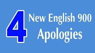 Learning English Speaking Course - Apologies