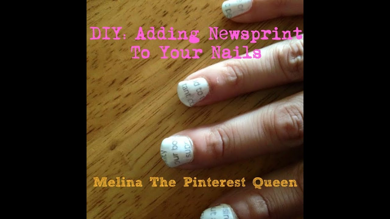 DIY NAILS: Adding newsprint to your nails - YouTube