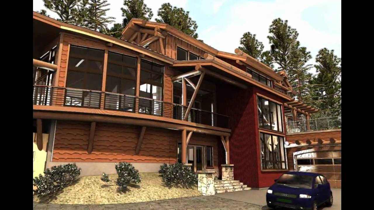 Timber Frame Cabin, Contemporary Log Home Using Modular