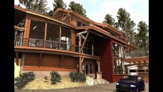 Timber Frame Cabin, Contemporary Log Home Using Modular Construction - Systems Built