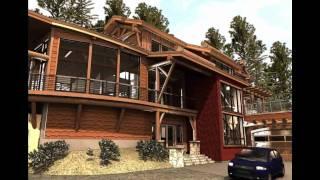 Timber Frame Cabin, Contemporary Log Home Using Modular Construction - Systems Built