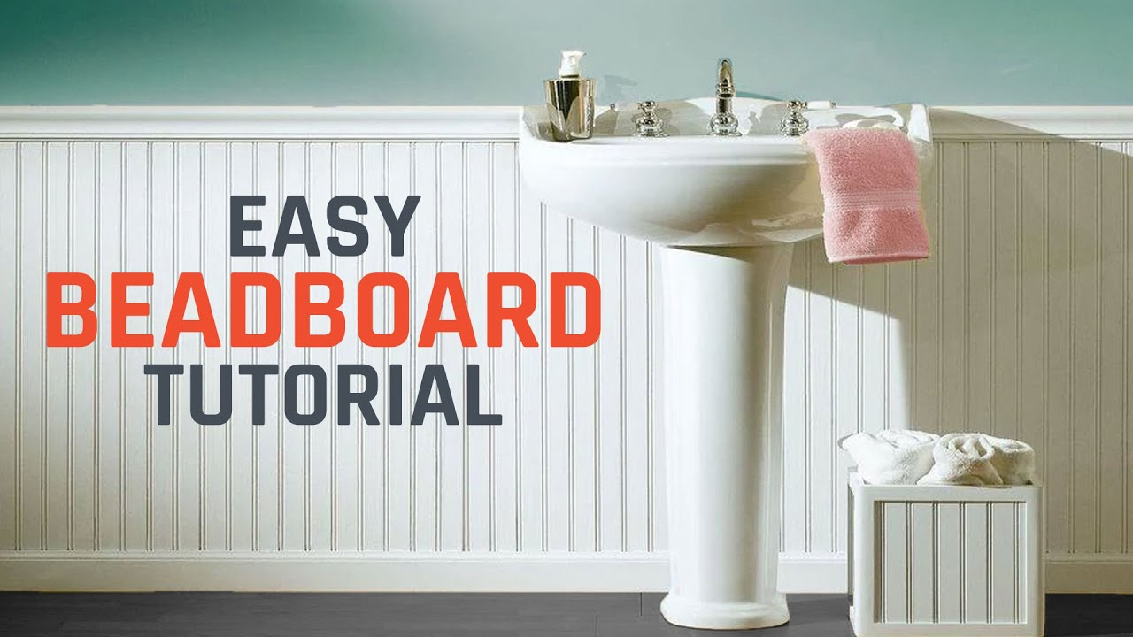 how to install beadboard or wainscoting youtube. Black Bedroom Furniture Sets. Home Design Ideas