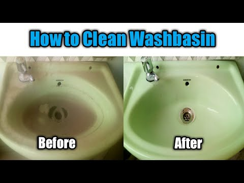 How To Clean Washbasin || Remove Hard Water Stains || Clean Bathroom Sink Quickly