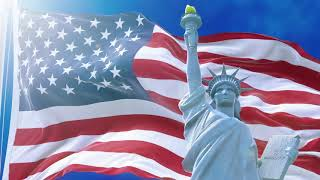 One-hour Music Relaxing Screensaver With Flag Of Usa