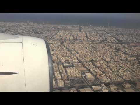 Landing at King Abdulaziz International Airport