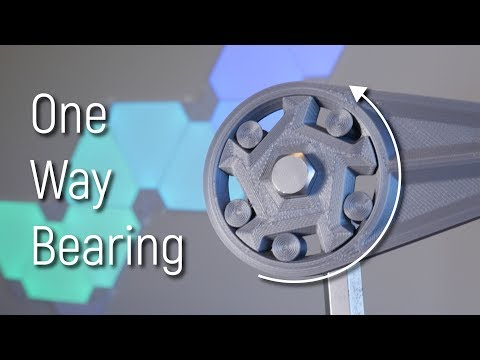 Can you 3D Print a One Way Bearing? Roller Clutch Design