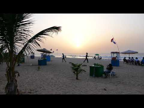 Bijilo Beach Sunset Scene, The Gambia, 1080p FHD (31/10/2017