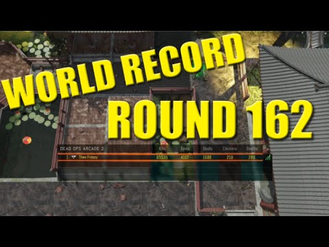Dead Ops Arcade 2 Round 162 World Record Solo - DOA 2 Black Ops 3 Zombies Highest Round