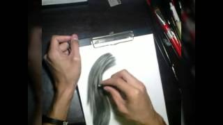 Maja Salvador charcoal drawing-Vernie Revilla