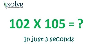 Multiplication of any two numbers near 100 in just 3 seconds.