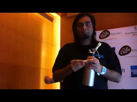 Chef Gaggan Anand cooking demo: Fluffy Dokhla