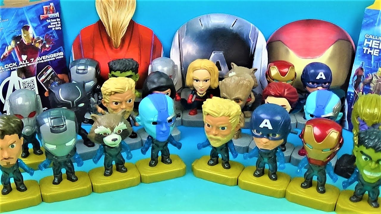 2019 Avengers End Game Set Of 24 Mcdonalds Happy Meal Kids Movie