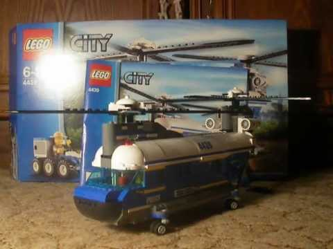 Lego City Forest Police Heavy Lift Helicopter Set 4439 - YouTube