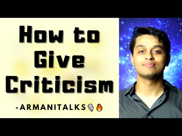How to Give a Feedback Sandwich | Criticism vs Constructive Criticism