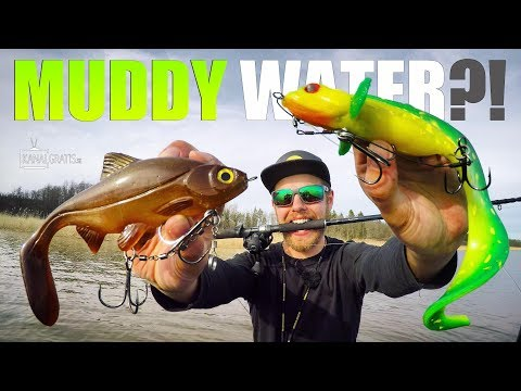 BEST LURE COLOR for Muddy Waters?! (Spring PIKE FISHING)