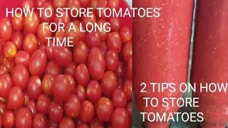 How to store tomątoes in freezer for a long time/ best way to store tomatoes for months/ 2 tips