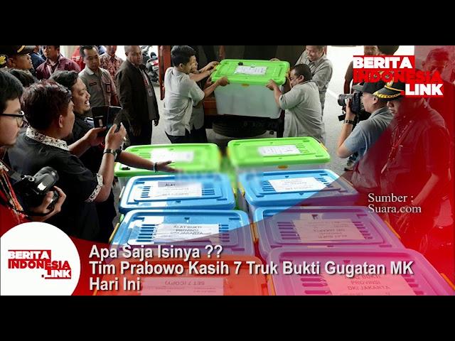 Kuasa hukum Prabowo-Sandi serahkan 7 truk bukti gugatan MK, 19 Juni 2019. Apa saja isinya?