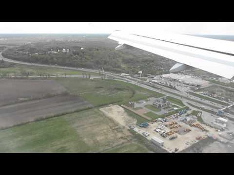 landing at St.Petersburg, Russia