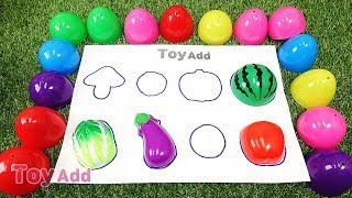 Shape Of Fruits And Vegetables For Kids, Learn Names Of Fruits (2)