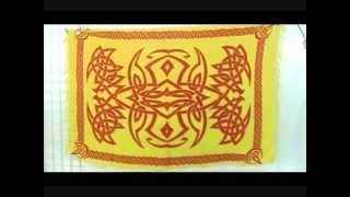 Yellow Celtic Sarong Batik Wrap Wholesalesarong.com