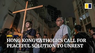 Hong Kong Catholics call for peaceful solution to unrest