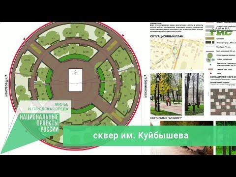Сквер им. Куйбышева — общественное пространство, участвующее в голосовании по благоустройству на 2022 год