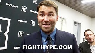 EDDIE HEARN REVEALS SUPRISING UPDATE ON JOSHUA VS. WILDER; 2-FIGHT DEAL, FINKEL OUT, NO DEC DEADLINE
