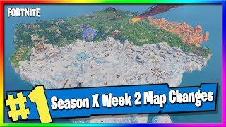 Fortnite Season X Map Changes, Updates and Hidden Secrets - Fortnite Season X WEEK 2
