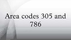 Area codes 305 and 786
