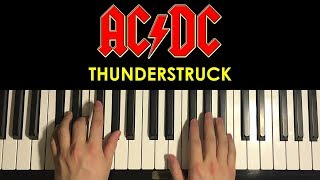 This is a step by step piano tutorial on Thunderstruck by AC/DC -- ...