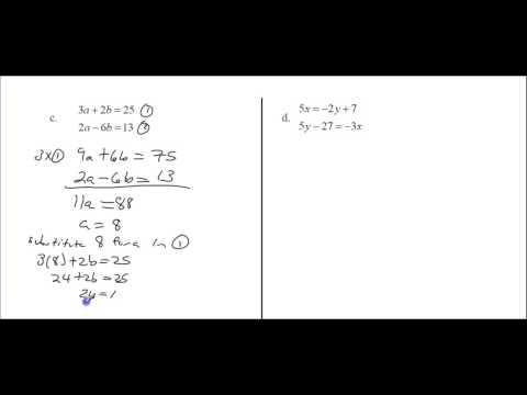 4  Solving Algebraically   ELIMINATION Method