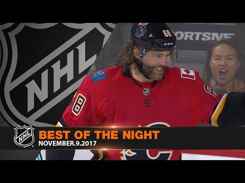 Jagr scores first with Flames on big night of hockey action