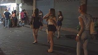 Pattaya Walking Street 29.3.2014 SPECIAL. Part 2 Nightlife Bars closed many Freelancer