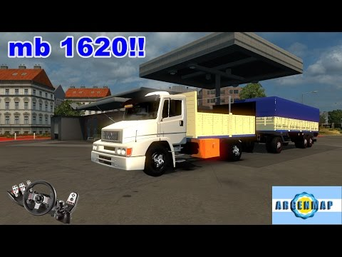 Euro Truck Simulator 2- MB CHASIS Y ACOPLADO VOLANTE G27!!