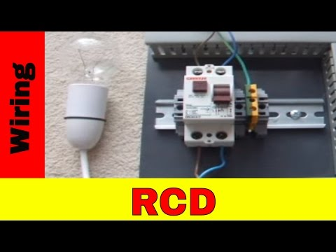 How To Wire Residual Current Device (RCD)  YouTube